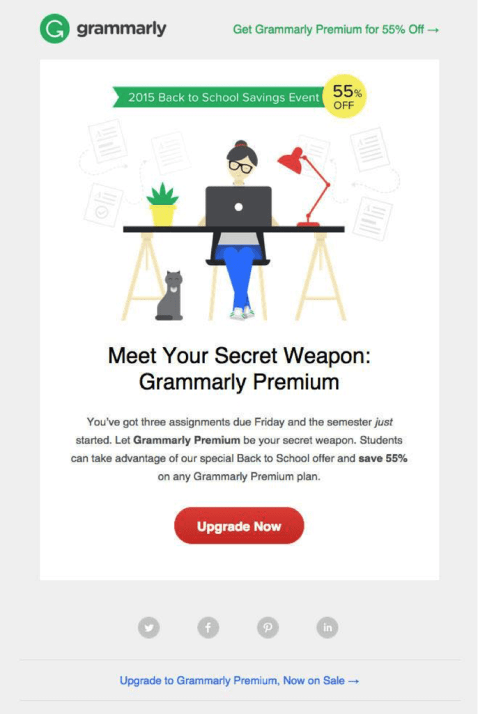 Description: discount emails to convert strangers into loyal buyers